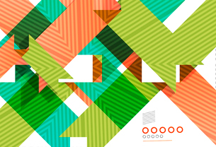Colorful geometrical shapes abstract lines for business / technology background, presentation, web dのイラスト素材 [FYI03077116]