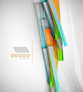 Stripes geometric shape paper templateのイラスト素材 [FYI03077118]