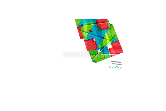 Colorful realistic geometric shape design templateのイラスト素材 [FYI03077120]