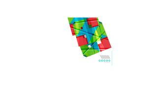 Colorful realistic geometric shape design templateのイラスト素材 [FYI03077120]