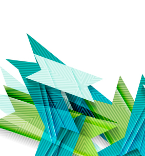 Colorful geometrical shapes abstract lines for business / technology background, presentation, web dのイラスト素材 [FYI03077123]
