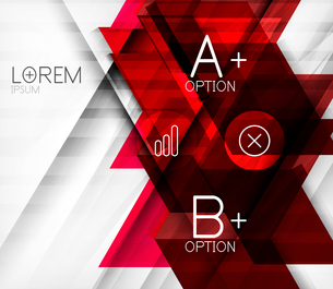 Blocks geometric abstract background with infographic optionsのイラスト素材 [FYI03077505]
