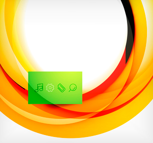 Vector colorful swirl motion design concept. Can be used as web templates, business illustration, teのイラスト素材 [FYI03077920]