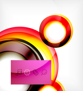 Vector colorful swirl motion design concept. Can be used as web templates, business illustration, teのイラスト素材 [FYI03077923]