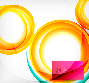 Vector colorful swirl motion design concept. Can be used as web templates, business illustration, teのイラスト素材 [FYI03077924]