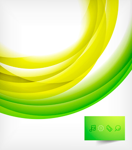 Green bright vector wave designのイラスト素材 [FYI03077933]