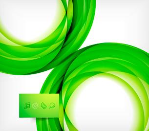 Green bright vector wave designのイラスト素材 [FYI03077934]