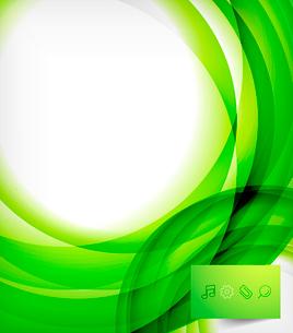 Green bright vector wave designのイラスト素材 [FYI03077935]