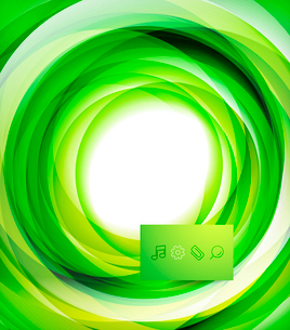Green bright vector wave designのイラスト素材 [FYI03077943]