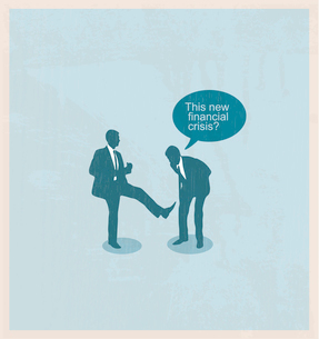 The concept of the financial crisis. Duel of two businessmen.のイラスト素材 [FYI03078224]