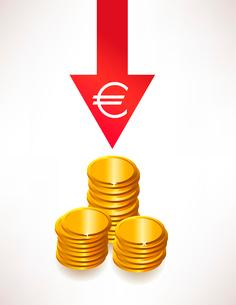 The concept of depreciation of money. Euroのイラスト素材 [FYI03078244]