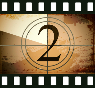 Grunge film countdownのイラスト素材 [FYI03078271]