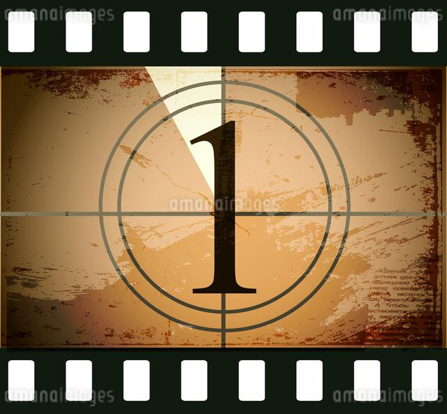 Grunge film countdownのイラスト素材 [FYI03078272]