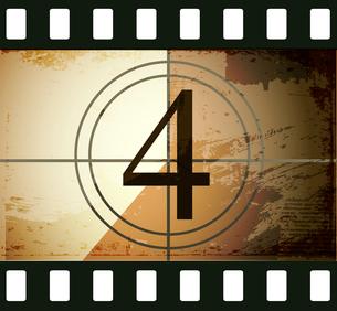 Grunge film countdownのイラスト素材 [FYI03078278]