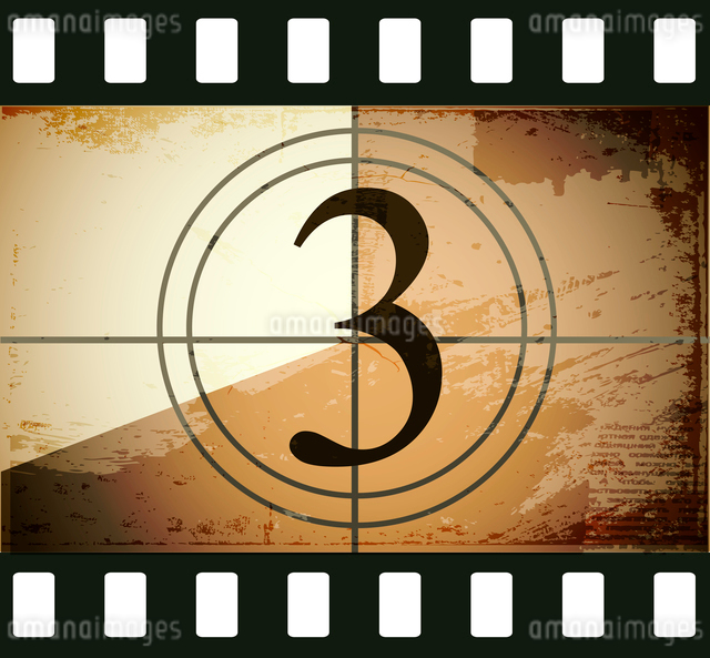 Grunge film countdownのイラスト素材 [FYI03078279]