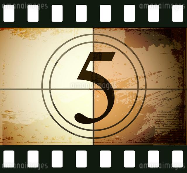 Grunge film countdownのイラスト素材 [FYI03078280]