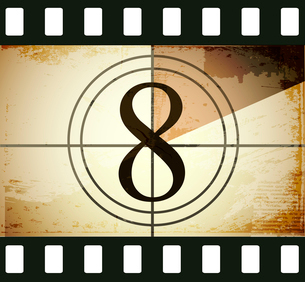 Grunge film countdownのイラスト素材 [FYI03078281]