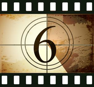 Grunge film countdownのイラスト素材 [FYI03078284]