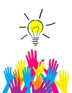 illustration of idea bulb.のイラスト素材 [FYI03078374]