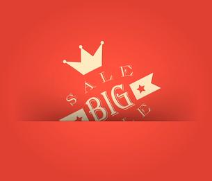 Big sale with retro vintage styled designのイラスト素材 [FYI03078405]