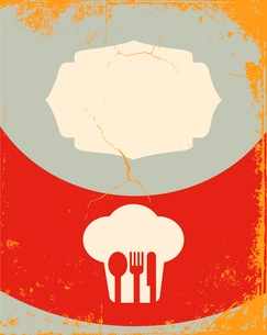 Restaurant menu design. With the silhouette cook chefのイラスト素材 [FYI03078461]