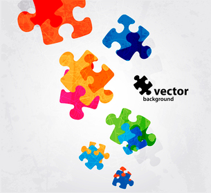 abstract puzzle shape colorful vector designのイラスト素材 [FYI03078494]