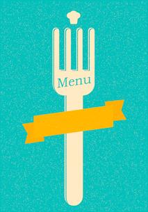 restaurant menu retro posterのイラスト素材 [FYI03078502]