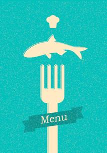 restaurant menu retro posterのイラスト素材 [FYI03078503]
