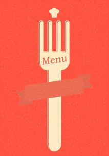 restaurant menu retro posterのイラスト素材 [FYI03078504]