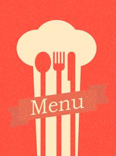 restaurant menu retro posterのイラスト素材 [FYI03078506]