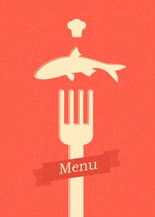 restaurant menu retro posterのイラスト素材 [FYI03078507]