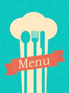 restaurant menu retro posterのイラスト素材 [FYI03078510]