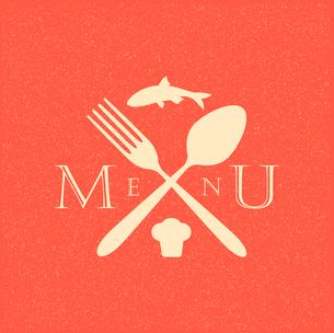 restaurant menu retro posterのイラスト素材 [FYI03078525]