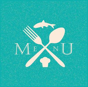 restaurant menu retro posterのイラスト素材 [FYI03078526]