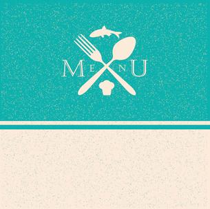 restaurant menu retro posterのイラスト素材 [FYI03078527]