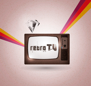 retro tv vectorのイラスト素材 [FYI03078534]