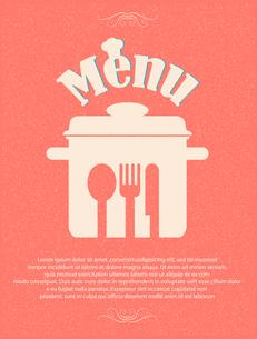 restaurant menu retro posterのイラスト素材 [FYI03078536]