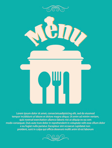 restaurant menu retro posterのイラスト素材 [FYI03078537]