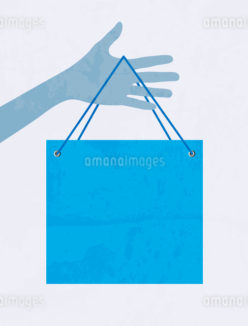 Hand with shopping bag. Vectorのイラスト素材 [FYI03078542]