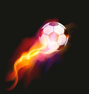 Soccer Fire Ballのイラスト素材 [FYI03078594]
