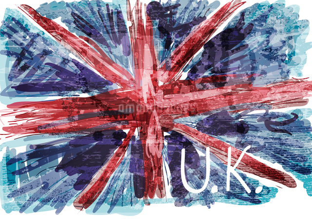 Grunge flag of Britishのイラスト素材 [FYI03078630]