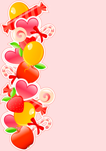 vector holiday background with candy and fruitsのイラスト素材 [FYI03078973]