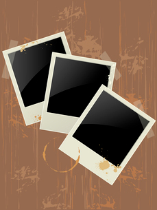 photo frame on a grunge backgroundのイラスト素材 [FYI03079042]