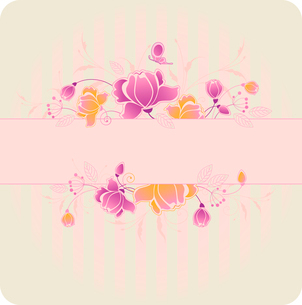 striped background with violet and yellow rosesのイラスト素材 [FYI03079071]