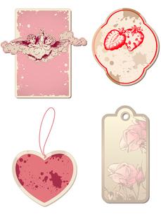 vintage Valentine's Day labelsのイラスト素材 [FYI03079153]