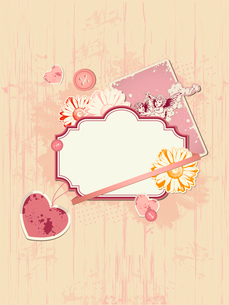scrapbooking kit for Valentine's dayのイラスト素材 [FYI03079154]