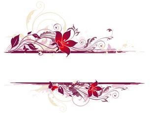 floral background with violet ornament and flowersのイラスト素材 [FYI03079166]