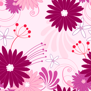 floral seamless pattern with violet flowersのイラスト素材 [FYI03079172]