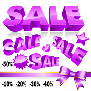 Set of 3d violet sale iconsのイラスト素材 [FYI03079183]