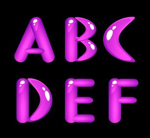 Violet shiny alphabet. Part 1のイラスト素材 [FYI03079264]